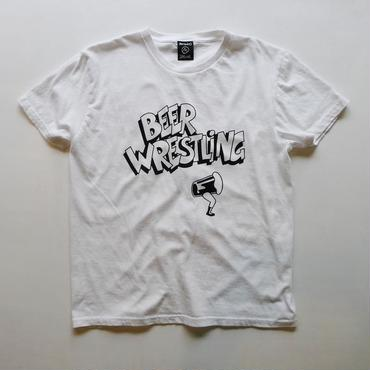 BEER WRESTLING tee-shirt (white/black)