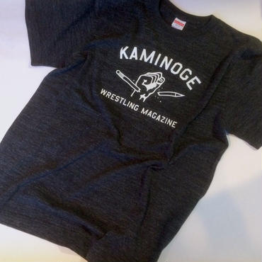 """KAMINOGE WRESTLING MAGAZINE"" tee-shirt (heather-black)"