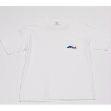 [佐藤映像]SATO EIZO LOGO tee-shirt(white)ポケット付