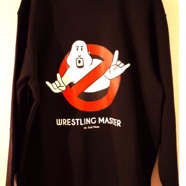 """武藤敬司""""WRESTLING MASTER """"  crew neck sweat (black)"""