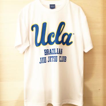 """[UCLA]""""UCLA BJJ"""" ドライメッシュTシャツ(白)"""