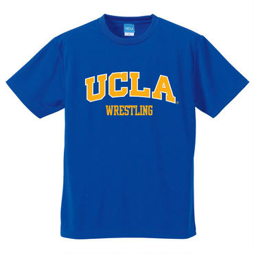"""UCLA WRESTLING"" ドライメッシュtee-shirt(cobalt-blue)"