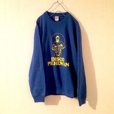 "Tomoo Gokita ""DISCO PEHLWAN"" crew neck sweat(royal-blue)"