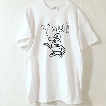 "かみのげくん ""You!!"" tee-shirt(white) Illustration by 中邑真輔"