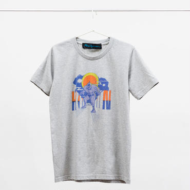 """BIGMAN""tee-shirt (gray) キン肉マン×師岡とおる"