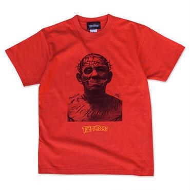 鈴木みのる × TWOPLATOONS tee-shirt(red)