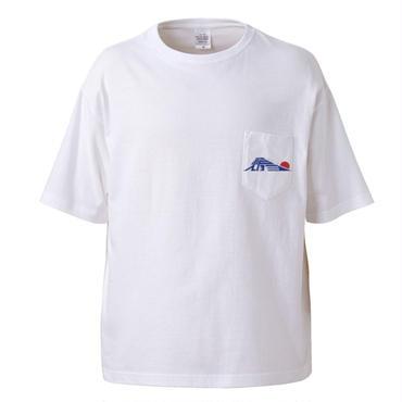 SATO EIZO LOGO tee-shirt(white)ポケット付