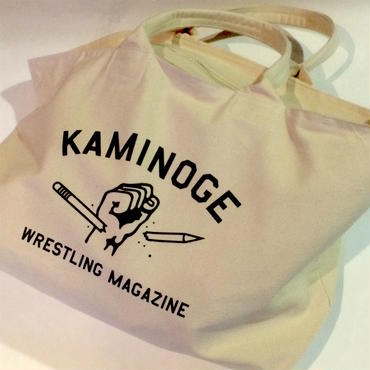 """KAMINOGE WRESTLING MAGAZINE"" キャンバスジップトートバッグ"