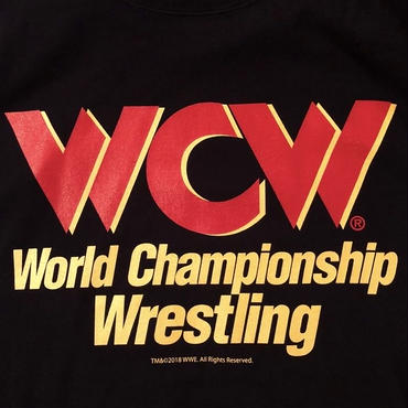 """WCW""  LOGO  tee-shirt(black×red)"