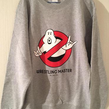 """武藤敬司""""WRESTLING MASTER """"  crew neck sweat (mix gray)"""