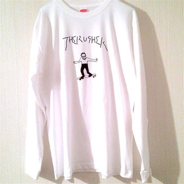 """THE RUSHER"" long sleeve tee-shirt (white)"
