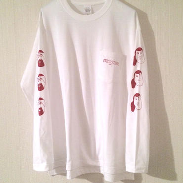 "[中邑真輔] ""BROTHER"" long sleeve tee-shirt (white)ステッカー付"
