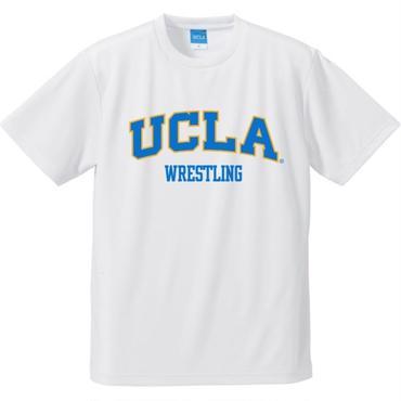 "[UCLA]""UCLA WRESTLING"" ドライメッシュTシャツ(白)"