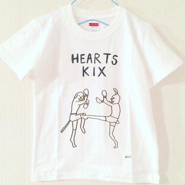 """HEARTS KIX × SHINSUKE NAKAMURA"" tee-shirts(white) ※KIDS SIZE!!"