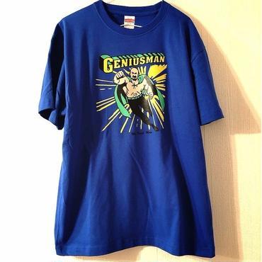 """武藤敬司""""GENIUSMAN""""tee-shirt (blue)"""