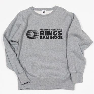 """RINGS KAMINOGE "" 12oz スウェット(グレー)"