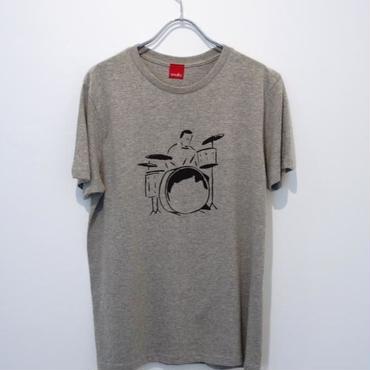 DRUMMER tee-shirt (gray・white)
