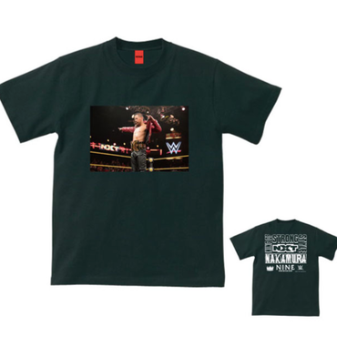 "[NINE RULAZ]NAKAMURA ""Champion"" tee-shirt(black)"
