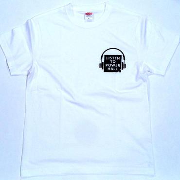 """長州力""""LISTEN TO POWER HALL"""" tee-shirt (white)"""