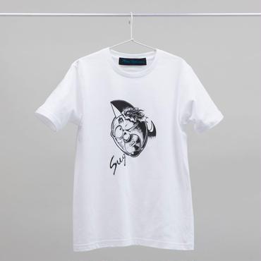 """""""SUGURU""""tee-shirt (white・black) キン肉マン×師岡とおる"""