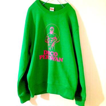 "Tomoo Gokita ""DISCO PEHLWAN"" crew neck sweat(bright-green)"