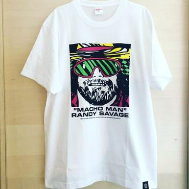 """""""MACHO MAN"""" RANDY SAVAGE FACE tee-shirt (white)"""
