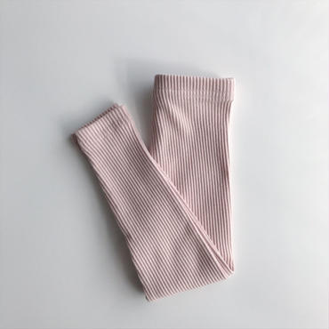 【送料無料】rib leggings (beige pink)