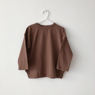 【送料無料】long sleeves T-shirt(brown)