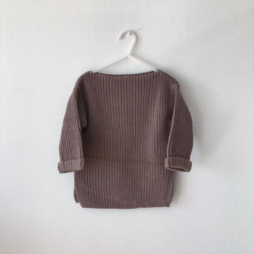 【送料無料】 boat neck knit (brown)