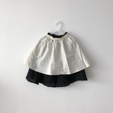 【送料無料】reversible skirt (black×ivory)