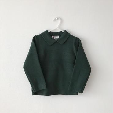 【送料無料】collared knit(green)