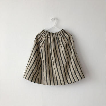 stripe skirt(beige×black)