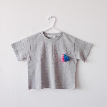 tassel T-shits(gray)