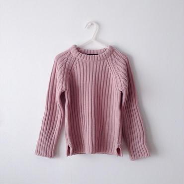【送料無料】chunky knit (pink  beige)