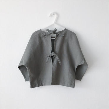 <OUTLET>back ribbon tops (khaki gray)  ※サイズXL(120)のみ