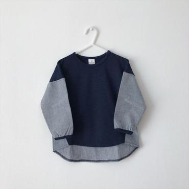 【送料無料】bi-color tops(indigo×blue)