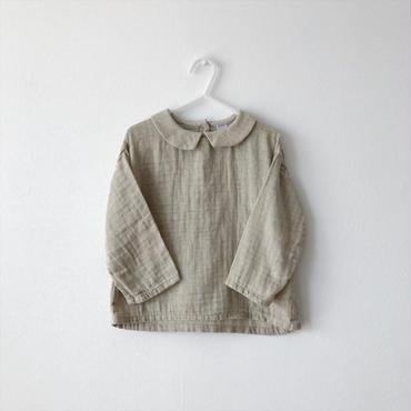 【送料無料】collared blouse (beige)