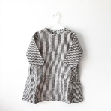 【送料無料】pinstripe one-piece ( gray beige)