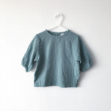 【送料無料】three quarter sleeve tops (aqua green)