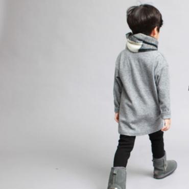 【送料無料】long pullover(gray)