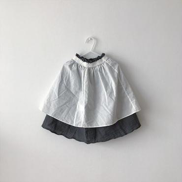 【送料無料】reversible skirt (charcoal×white)