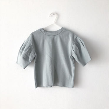 puff sleeve tops (blue gray)
