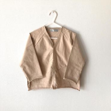 【送料無料】snap cardigan (beige)