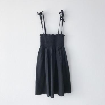 shirring one-piece (black)