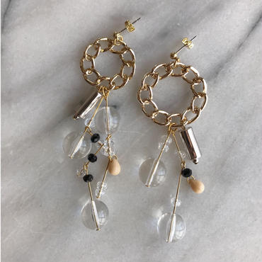 stone connect  pierce/earring