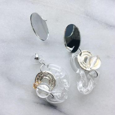 mirror×clear chain pierce