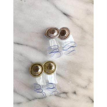 vintage button×frill  pierce