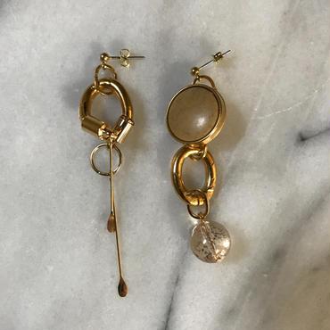 vintage button asymmetry  pierce