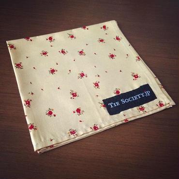 小花柄ポケットチーフ