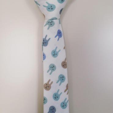 カラフルうさぎ柄ネクタイ